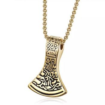 Halsband Viking Yxa Guldkedja 60 cm