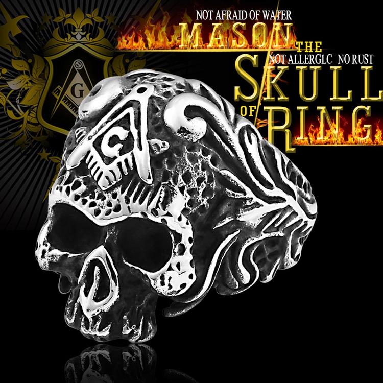 Ring Dödskalle Skull 3 Biker