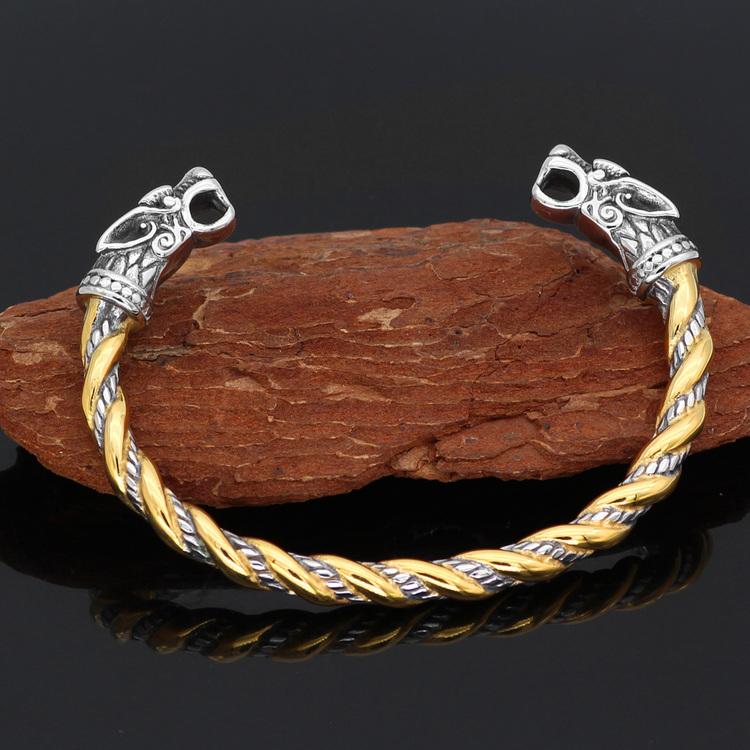Armband Viking Nidhugg Gold/Steel 21 cm