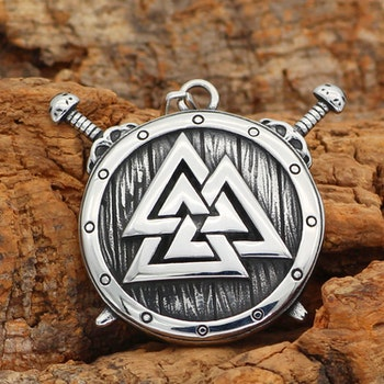 Halsband Viking Shield Valknut