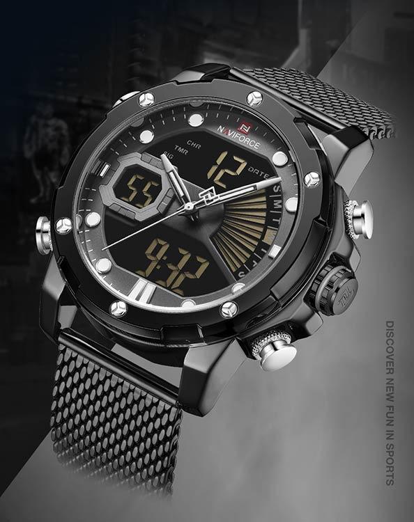 Herrklocka NaviForce 9172S-BGYB svart