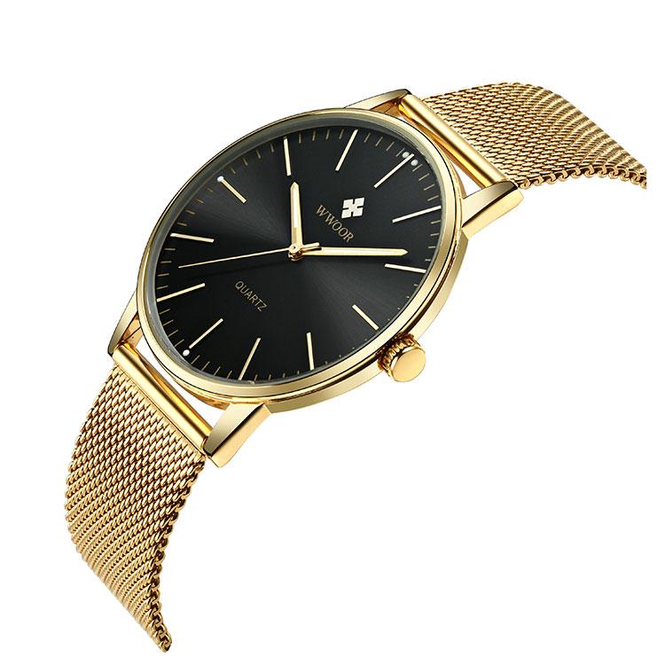 Herrklocka Wwoor 8832 gold black klocka herrur guld svart