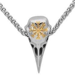 Halsband Odens Korp. Aegishjalmur Guld. 4 mm