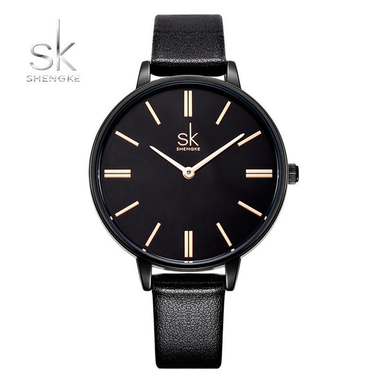 Damklocka SK Just in Time. Black / Black. Leather Black. Japan Quartz