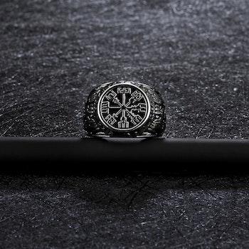 Ring kompass Vegvisir 2 Svart botten