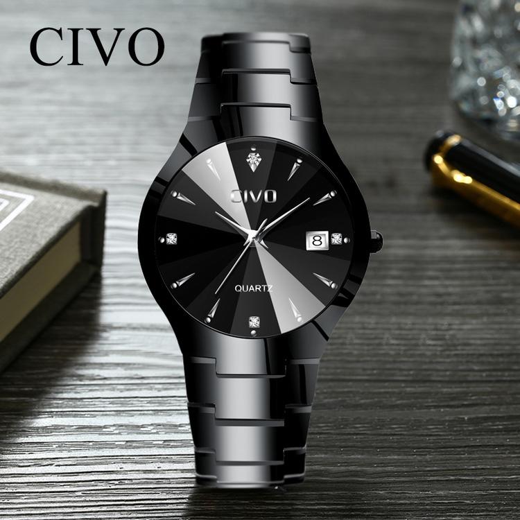 Klocka Civo Delicious Black / Black. Quartz Japan