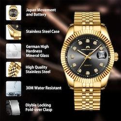 Megalith Great Luxury Gold / Black / Gold. Quartz Japan