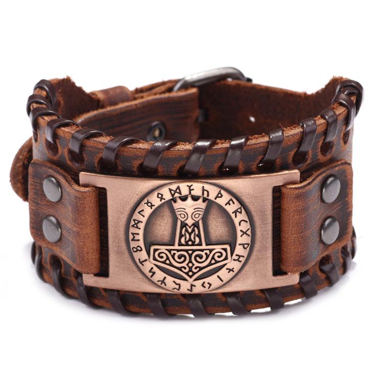 Läderarmband Viking 2 armband vikingasmycke