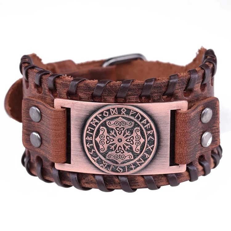 Läderarmband Viking 4 armband vikingasmycke