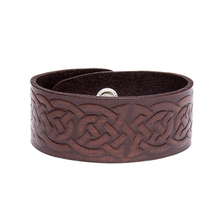 Läderarmband med keltisk slinga Viking