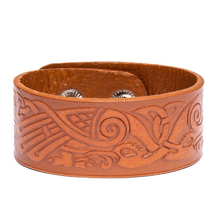 Keltisk slinga läderarmband Viking