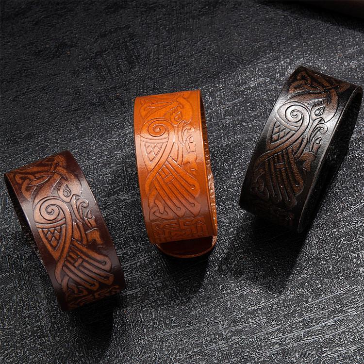 Keltisk slinga läderarmband