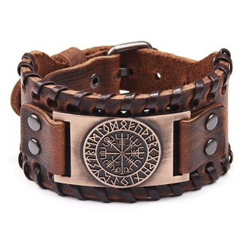 Läderarmband Viking 4 Brun 27,5 x 4 cm
