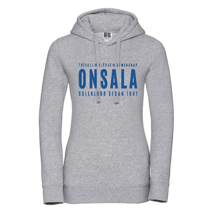 Onsala hoodie dam grå