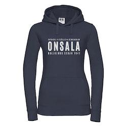 Onsala hoodie dam mörkblå