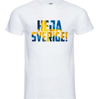 Heja Sverige - T-shirt Russell Herr vit