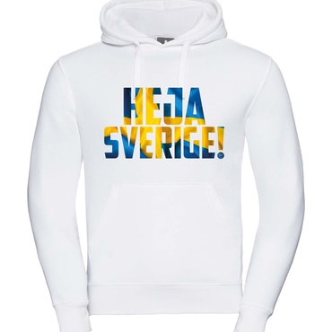 Heja Sverige - Hoodie Herr Vit