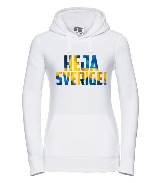 Heja Sverige - Hoodie Dam Vit