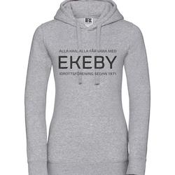 Ekeby IF hoodie dam jubileum grå
