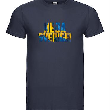 Heja Sverige - T-shirt Russell Herr marinblå