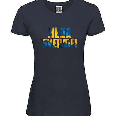Heja Sverige - T-shirt Russell Dam marinblå
