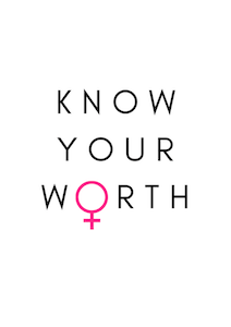 Poster - Know your worth