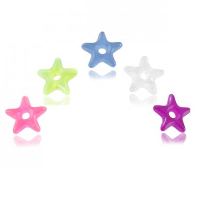 5-pack glow in dark donut stjärnor
