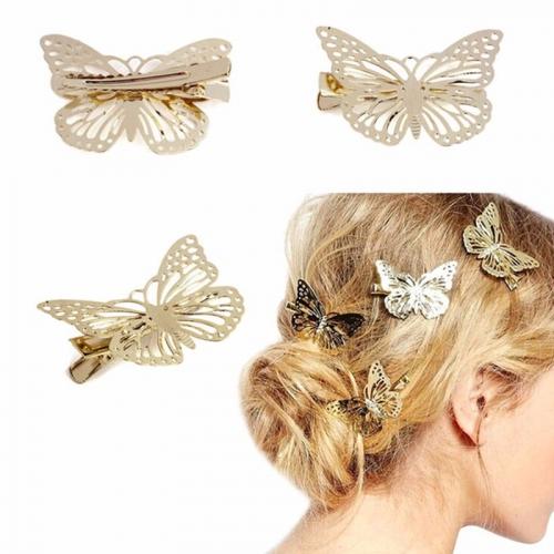 Hårspänne med fjäril