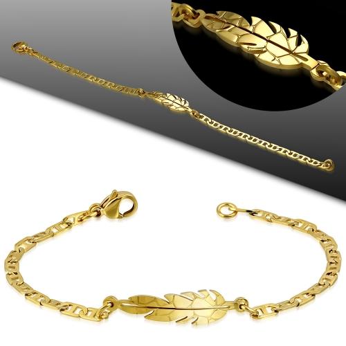 Armband med guld blad