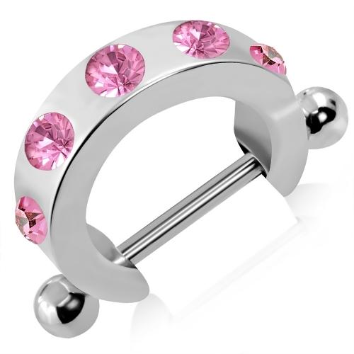 Bröstsköld med rosa CZ stenar
