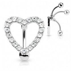 Omvänd navelpiercing med hjärta