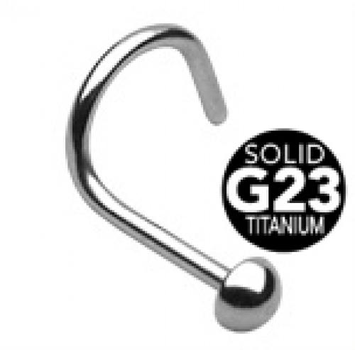 G23 titan näspiercing med halv boll