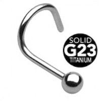 G23 titan näspiercing med boll