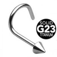 G23 titan näspiercing med kona