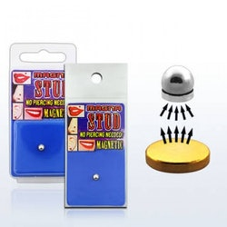 Fake piercing med magnet platta