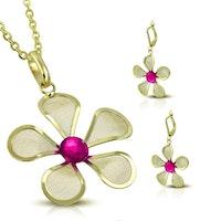 Smycke set blommor