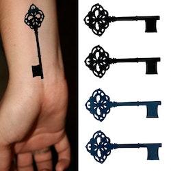 Stick on tatueringar med nycklar
