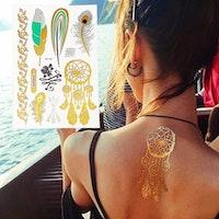 Vatten fast tatuering med olika mönster