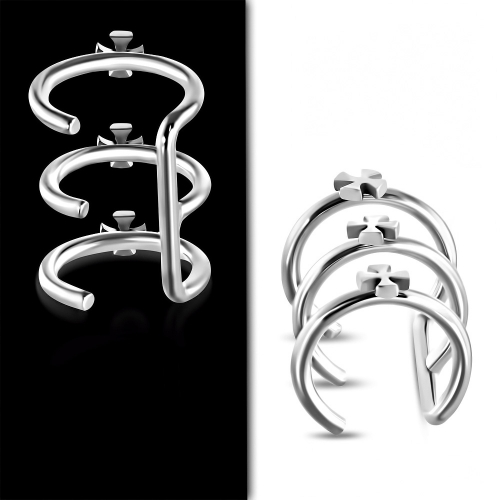 Fake helix piercing