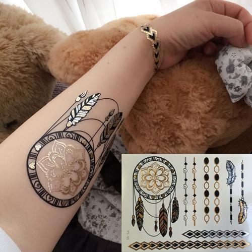 Stick on tatuering med drömfångare