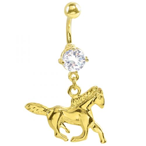 Guldpläterad häst