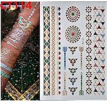 Stick on tatueringar med mönster