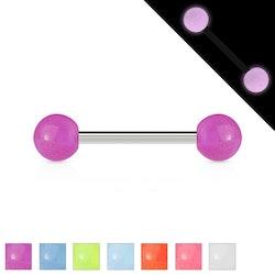 Barbell med glow in dark bollar