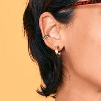 Piercingring dubbel med ädelstenar
