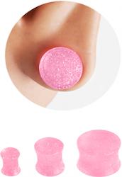 Rosa glitter plugg