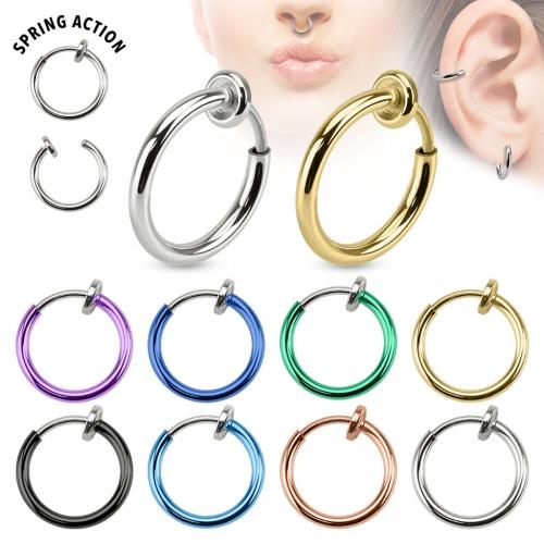 Fake piercing ring