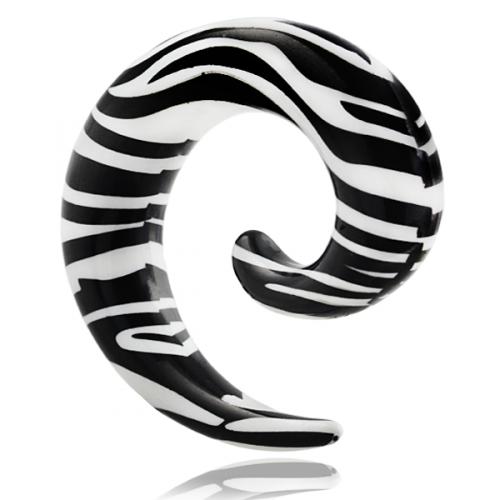 Svart/vit zebra-randig spiral