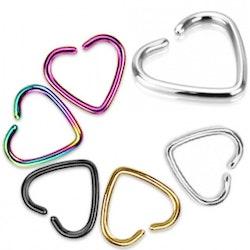 Fake piercing, hjärta till näsa / helix