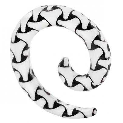 Benmönstrad spiraltaper