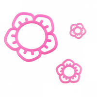 O-ring med rosa blomma